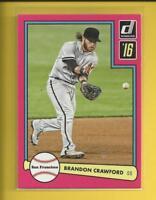 Brandon Crawford  2016 Donruss '82 Design PINK Insert Card # D82-22  Giants