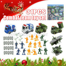 31pcs Combat Team Toy Set Missile car Police car Aircraft set With game pad a