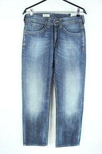 PEPE Jeans BNWT Blue Denim Mid Rise Regular Fit Straight Men Jeans Size 29/32