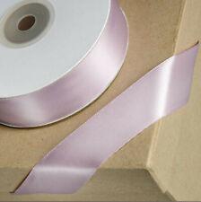 Rosa Cuarzo rosa de doble cara cinta de raso 25M Reel Boda Cumpleaños Regalo De Artesanía