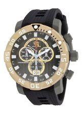 New Mens Invicta 14258 Sea Base Swiss Chronograph Black Rubber Strap Watch