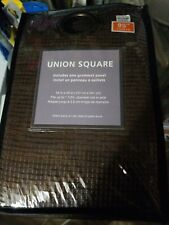 4 pk Union Square Grommet Window Curtain Panel  Chocolate Size 54 x 95 Inch New