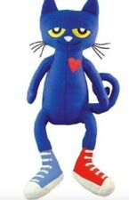 "1X Pete The Cat 14"" Doll White Shoes Soft Animal Plush Toy I Love My Shoes Merry"