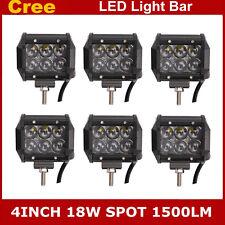 "6PCS 4"" 18W 4D CREE Led Work Light Bar Spot Offroad ATV Auto Boat Truck 4WD Lamp"