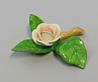 9959629 Porcelain Figurine Table Flower Rose Twig Light Peach Ens 8x8x2, 5cm