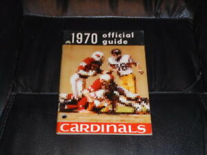 VINTAGE 1970 ST. LOUIS CARDINALS NFL FOOTBALL MEDIA GUIDE  NR MINT