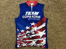 "SUGOI CYCLING JERSEY ""TEAM COPAXONE"", Size XL, Sleeveless, Red, White And Blue"