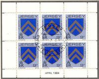JERSEY 1984 April H-Blatt 9 P Wappen / Coat of Arms mit ESST VFU