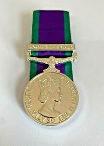 GENERAL SERVICE MEDAL FOR NORTHERN IRELAND, GSM NI, FULL SIZE, MINI, RIBBON