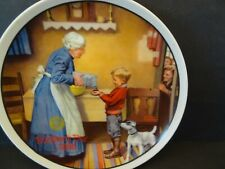 Vintage Collectible Norman Rockwell Decorative Plate #5075G, Mother's Day 1986