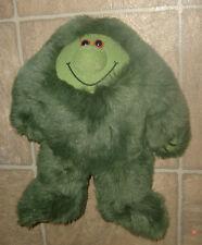 "12"" Early Advantage MUZZY Green Furry Plastic Eyes BBC Soft Plush FREE S/H"