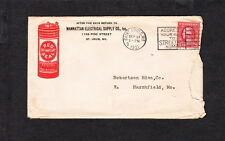 Manhattan Electrical Supply Red Seal Battery St. Louis MO 1921 Color Ad Cover z6