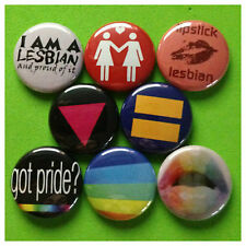 """LESBIAN 1"""" buttons pinbacks EGUAL RIGHTS GAY PROTEST"""