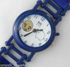 Monokuro Boo Kid's Watch Blue Leather Strap White Analog Dial