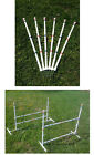 Dog Agility Equipment Budget Friendly 12 Weave Poles and 2 Jumps  Free Shipping!