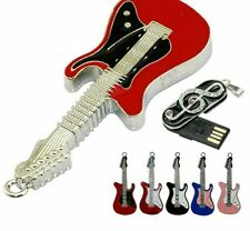 USB Flash Drive Metal Necklace Electric Guitar Memory Stick 32GB 64GB Pen Drive