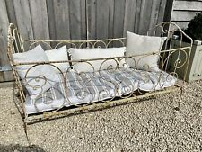 More details for vintage (could be antique) french iron day bed/cot bed