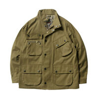 Retro Men's Military Jacket Coat Outwear Parka Overcoat Stand-up Collar Uniform