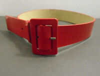 NINE WEST RED PATENT LEATHER BUCKLE BELT WOMEN'S