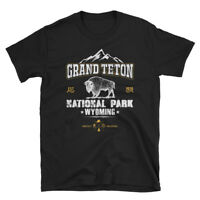 Vintage Style National Park Grand Teton Wyoming Short-Sleeve Unisex T-Shirt