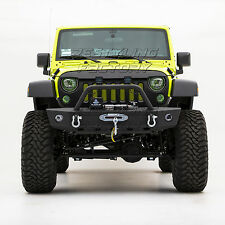 07-17 Jeep Wrangler Black Textured Rock Crawler Front Bumper W/Winch Plate Ready