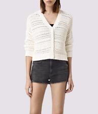 All Saints River Cardigan Chalk White Size L Cotton BNWT £138