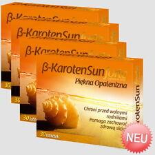 4x Beta Carotene Sun Forte = 120 Tabletten Vegan - Schöne Bräune Carotin Karotin