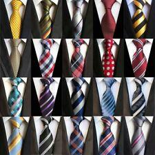 Men's Neckties Classic Stripes Plaid Jacquard Woven 100% Silk Men Tie Neck Ties