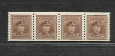 CANADA COIL STAMPS #279 STRIP OF 4 (NH) FROM 1948