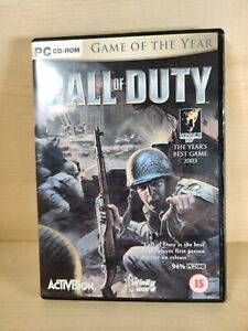 Call Of Duty - GOTY Edition PC DVD Excellent condition