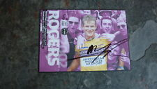 CYCLING CHAMPION MICHAEL ROGERS HAND SIGNED TOUR DOWN UNDER WINNERS POSTCARD