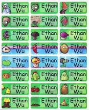 72 PLANT vs ZOMBIE Custom Waterproof Name Labels-SCHOOL(Buy 5 get 1 FREE)