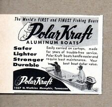 1960 Print Ad Polar Kraft Aluminum Boats Memphis,TN