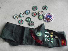 Vintage Girl Scout Sash with Many Award Patches Look
