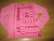 Tee-shirt rose clair à motif,ML,T5/6ans,marque Elle,en TBE