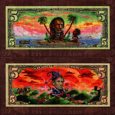 Rasta Abraham by Kami  – Double sided sheet Brown version blotter art