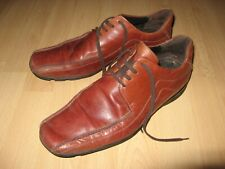 HARDLY WORN MENS BOYS TAN BROWN LEATHER LACE UP FASHION SHOES 8 UK 42 EU 8.5 US