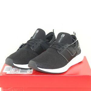 NEW BALANCE NERGIZE women's athletic shoes size 9 W black fabric up lace up NEW