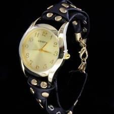 Womens Round Face Gold Tone Geneva Trendy Quartz Bracelet Watch