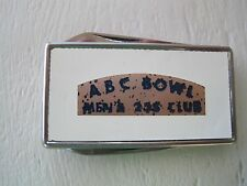 Advertising Pocket Knife and Money Clip ABC Bowl Men's Stainless Vintage Bowling