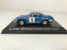 ALPINE RENAULT A110 1973 1:43 Scale Rally Car Model in Display Case