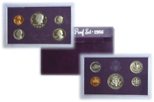 1986 S 5 Coin Proof Set Original Government Packaging W/COA Smokiness/Toned
