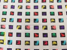 Dinosaur Squares Multi Color Kids Fabric Quilting Sewing Crafting  45 x 56