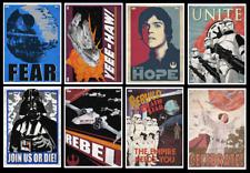 TOPPS STAR WARS CARD TRADER VINTAGE PROPAGANDA WAVE 2  [SET 8 CARDS]