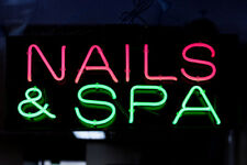 "New Nails&Spa Artwork Handmade Acrylic Light Neon Sign 14"""