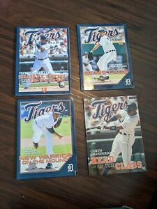 Lot of (4) Detroit Tigers Magazines - from 2006-2009