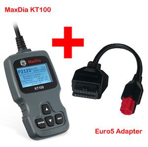 MaxDia KT100 & Euro5 Adapter 6 Pin für Motorrad Bike