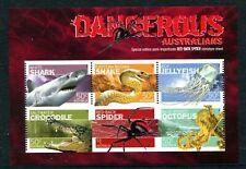 More details for 2006 dangerous australians part imperf sheet mnh australia
