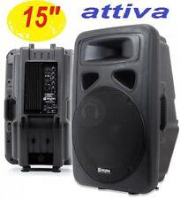 CASSA ACUSTICA ATTIVA AMPLIFICATA full-range 800W WOOFER 38 CM in abs 2 VIE DJ
