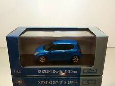 RIETZE MODELLE SUZUKI SWIFT 3-drs - BLUE METALLIC 1:43 - EXCELLENT IN BOX